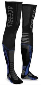 Acerbis X-Leg Motocross Knee Brace Sock Black/Blue XXL UK 10-12