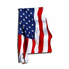 Bright Waving USA American Flag Alabama State patriotic Vinyl Decal Sticker