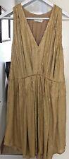 Beautiful Zimmerman Matt Gold Silk Sequin Dress - Size 0 - High low hem at sides