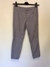 JACK WILLS BLACK & WHITE GINGHAM COTTON CAPRI PANTS SIZE 6