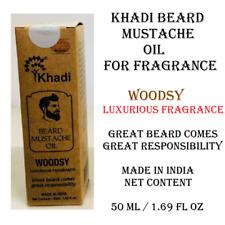 Khadi India Beard Mustache Oil For Luxurious Fragrance Woodsy Flavor 1.69 fl oz