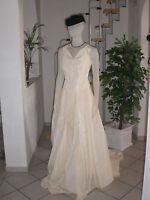 44) NEU* Satin Corsage Brautkleid Wedding Kleid Dress Ballkleid Größe 48 - 50