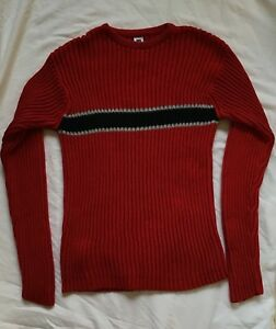 GAP Boys Sweater Crew Neck Ribbed Striped Size 14 - 16 XXL EUC! Red