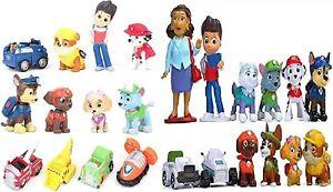 24pcs of Cake Topper Paw Patrol for Birthday Mini Figure Vehicle Toys Decoration