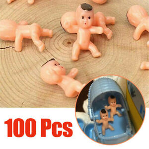 100pcs 1 Inch Mini Plastic Baby Favor Supplies For Baby Shower and Ice Cube Game
