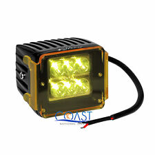 """High Power 24W White 6 CREE LED Car Truck 3x3"""" Cube Spot Light w/ Amber Cover"""