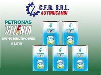 5 LITRI OLIO LUBRIFICANTE SELENIA MULTIPOWER 5/40 5W40 5 40 5.40 GAS E METANO