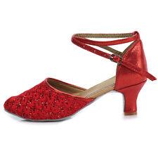 Women Girl lady's Ballroom Tango Modern Dance Dancing Shoes heeled Salsa 1802-6