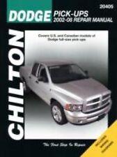 2002-2008 Chilton Dodge Pick-Ups Repair Manual