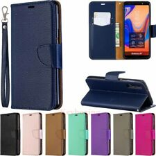 For Samsung S10 S9 J4 J6 Plus A50 A30 A6 A7 Wallet Flip Leather Phone Case Cover