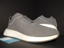 ADIDAS WH NMD R2 SALES SAMPLE WINGS & HORNS R1 ASH GREY OFF WHITE BB3117 NEW 9.5