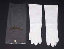 Vtg Stetson Women's White Gloves, Nylon Stretch, Size 6.5 Made in Italy, Elegant