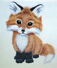 Sweet Baby Fox Kids Set Hand Towels Embroidered Adorable