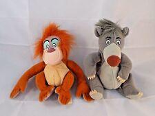 """Disney Jungle Book Louie Orangutan & Baloo Bear Plush Bean Doll 5"""" lot"""