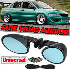 Universal Classic California Carbon Look Side Mirrors Street Hot Rat Rod Muscle