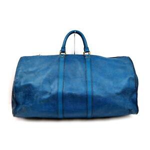 Louis Vuitton LV Boston Bag M42955 Keepall 55 Blue Epi 1429000