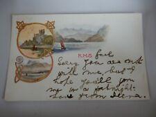 More details for postcard p8h32  david macbrayne advert card  rms gael  ?  kyle postmark