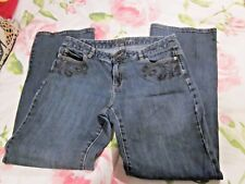 Michael Kors Women's Size 10 BOHO EMBROIDERED DETAILS distressed denim *SO CUTE*