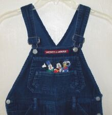 DISNEY MICKEY MOUSE Unlimited Blue OVERALLS Bib Coveralls Pants GIRLS size 12