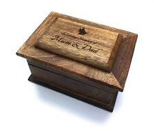 Personalised Genuine Mango Wood Memorial Ashes Casket / memory box, Engraved