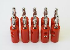 LOT of (100 pcs) Mueller Electric BU-00249-2 STACKABLE BANANA PLUG RED69-205