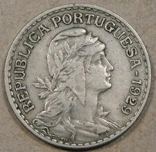 Portugal 1929 Escudo Better Circulated Grade Coin