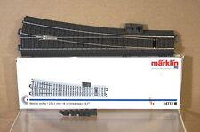 MARKLIN MäRKLIN 24712 C TRACK RIGHT HAND POINT 236 mm 12.1 degree BOXED pz