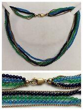 Collar 333 goldverschluß 5 Filas Perlas en 3 Colores joyas perlas 42cm