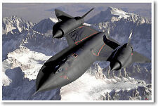 SR-71 Blackbird - Aviation Military Jet Airplane NEW POSTER