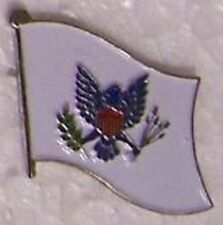 Hat Lapel Push Tie Tac Pin Army Flag unfurled white NEW