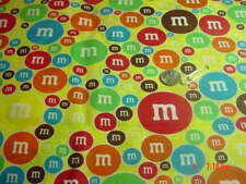 I Spy Candy Jar Quilt  Fabric M & M FABRIC ON BRITE YELLOW  6 x 9 Inch