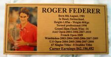 Tennis Roger Federer Picture Gold Plaque Free Post Pict