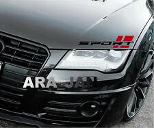 SPORT Decal Sticker car racing stripe turbo emblem logo motorsport 2 PCS (PAIR)