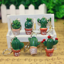 1Pc Mini Cactus Metal Keyring Keychain Cute Pendant Bag Car Key Decor Gift