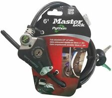 ☆☆☆☆☆ MASTER LOCK 8428DPS PYTHON ADJUSTABLE LOCKING CABLE, 6-Foot (New)
