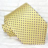Krawatte herren seide Gelb & Blau Made in Italy hochzeit / business UVP € 38