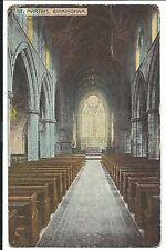 St Martins Church, Birmingham PPC, 1905 PMK to Mrs Skinner, The Rectory, Stanton
