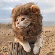 Furry Cat Hat Lion Mane Wig For Dog Costume Pet Adjustable Washable Comfortable