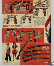 1960 PAPER AD 2 PG Daisy Toy Guns Cheyenne Rifle Buffalo Bill Plastic Soldiers