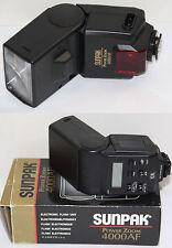 Flash SUNPAK 4000AF 4000 AF TTL pour Canon EOS numérique