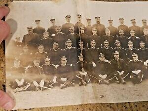 Lge 1915 Orig Antique Photo Camp Loomis Portsmouth New Hampshire Brigade Pythias
