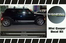 Mini Cooper Rally Turbo 2000-2015 Rocker Panel Graphics Decals Side Stripes