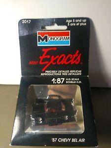 Monogram Mini Exacts '57 Chevy Bel Air #2017 Black Vintage 1:87 H.O. Scale