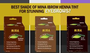 Mina ibrow henna Tint kit Light, Medium & Dark Brown regular pack combo & brush