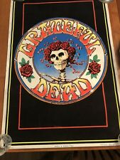 Grateful Dead Skull & Roses 1978 Kelley Mouse Black Light Poster