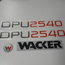 Wacker DPU 2540  3x aufkleber sticker und Wacker Kunstofplatte 3mm 35x180mm