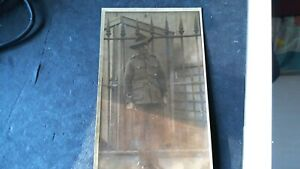 WW1 ww2 real photo of Australian solder out side of the palace London  no name