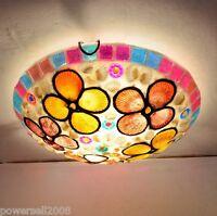 European Rural Style 3 Lights Diameter 40CM Height 7CM Bedroom Ceiling Light E