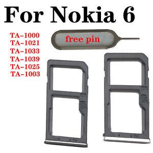 Fo Nokia 6 TA-1000 TA-1021 TA-1033 TA-1039 TA-1025 TA-1003 SIM SD Card Tray Slot