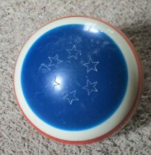 EBONITE YANKEE DOODLE BOWLING  BALL RARE RED WHITE & BLUE 10 POUNDS 6 OUNCES